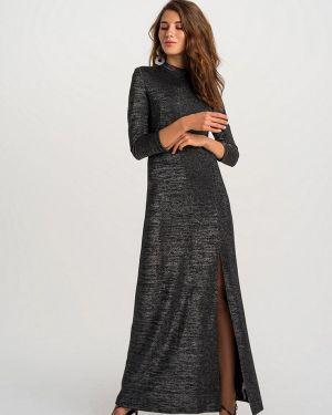 Черное вечернее платье свободного кроя Befree