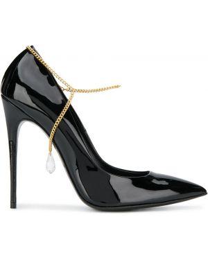 Черные туфли-лодочки Maison Ernest