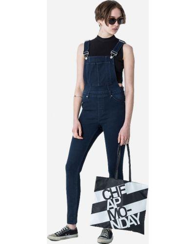 Синий облегающий джинсовый комбинезон свободного кроя Cheap Monday
