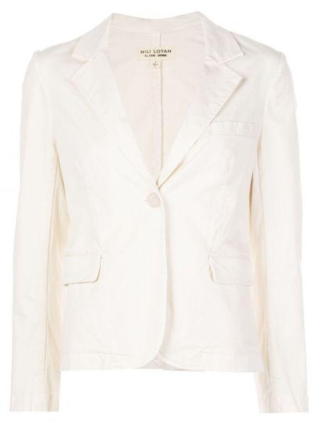 Однобортный приталенный белый пиджак Nili Lotan