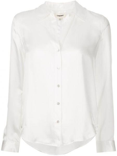Шелковая рубашка - белая L'agence