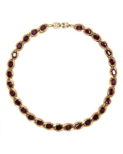 Choker pozłacany - fioletowy Givenchy Pre-owned