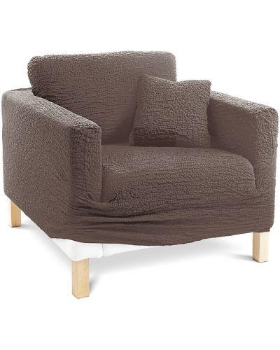 Коричневый чехол для диванов угловой Bonprix