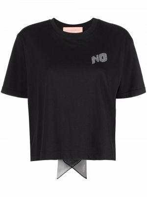 Czarna t-shirt bawełniana Viktor & Rolf
