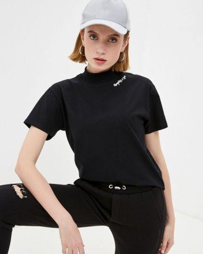 Черная футболка с короткими рукавами The Kooples
