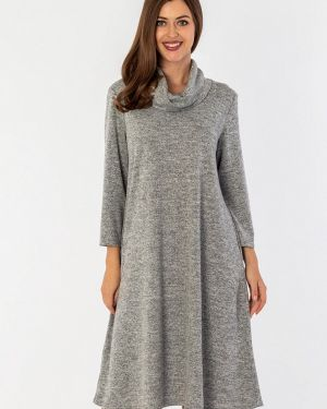 Платье серое платье-свитер S&a Style