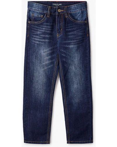 Синие расклешенные свободные джинсы Finn Flare