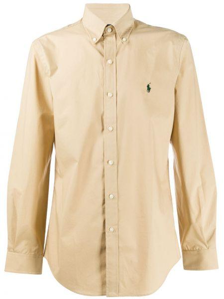 Koszula z długim rękawem długa beżowy Ralph Lauren