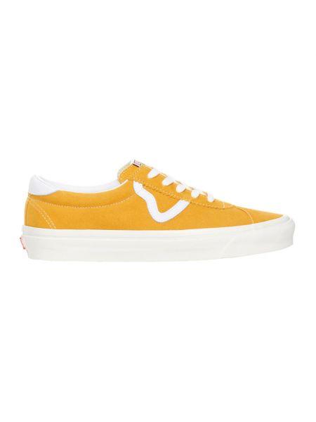 Żółte trampki niskie płaska podeszwa Vans