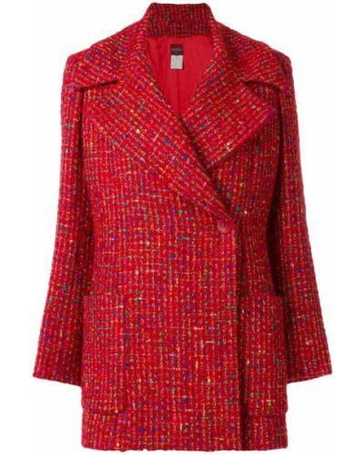Длинное пальто с капюшоном на пуговицах Kenzo Pre-owned