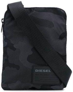 Черная сумка мессенджер Diesel