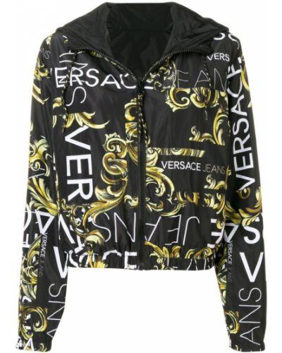 Черные джинсы с поясом Versace Jeans