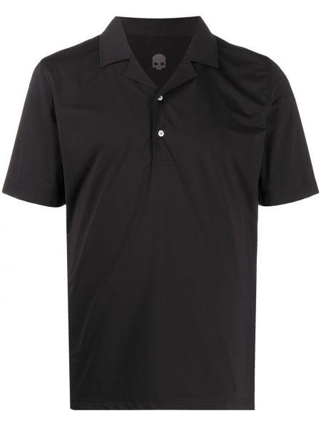 Klasyczna czarna klasyczna koszula krótki rękaw Hydrogen