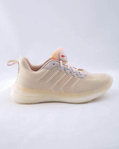 Текстильные бежевые кроссовки Saijun