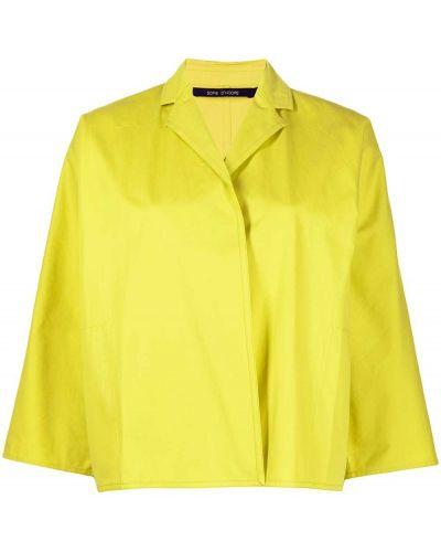Хлопковый желтый удлиненный пиджак Sofie D'hoore