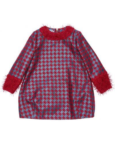 Нарядное с рукавами красное платье макси Mi.mi.sol.