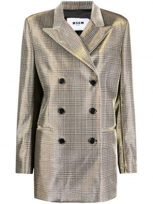 С рукавами удлиненный пиджак двубортный с карманами Msgm