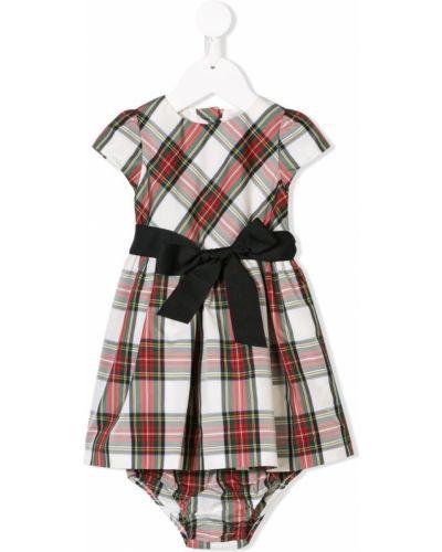 Платье с рукавами короткое на пуговицах Ralph Lauren Kids