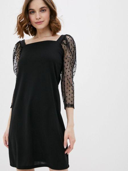 Вечернее платье черное весеннее Haily's
