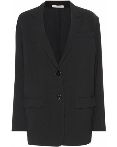 Черный классический пиджак с подстежкой Bottega Veneta