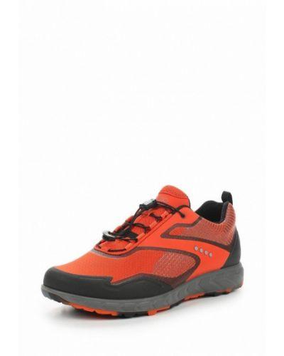 Оранжевые кроссовки из искусственной кожи Ecco