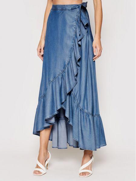 Długa spódnica - niebieska Guess