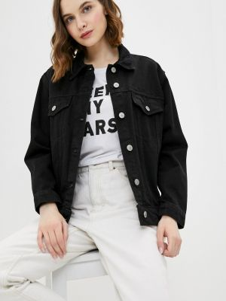 Джинсовая куртка черная весенняя Concept Club