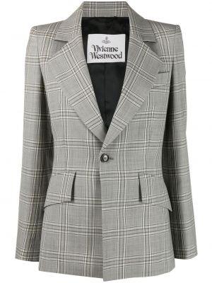 Шерстяной черный удлиненный пиджак с карманами Vivienne Westwood