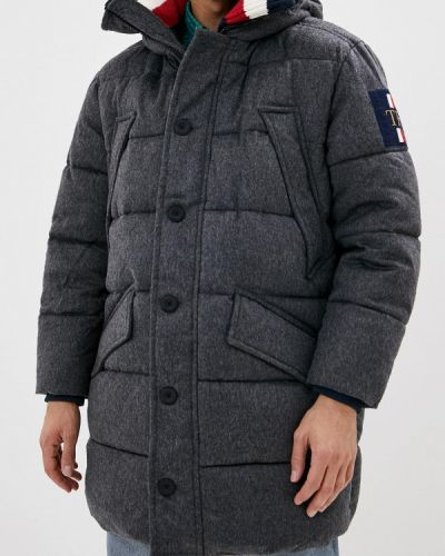 Теплая серая зимняя куртка Tommy Hilfiger