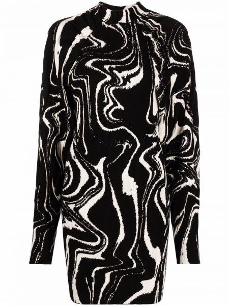 Czarna sukienka z wiskozy Rotate