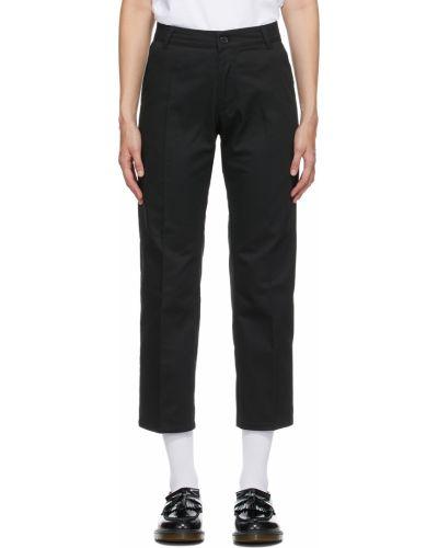 Czarne spodnie z paskiem bawełniane Noon Goons