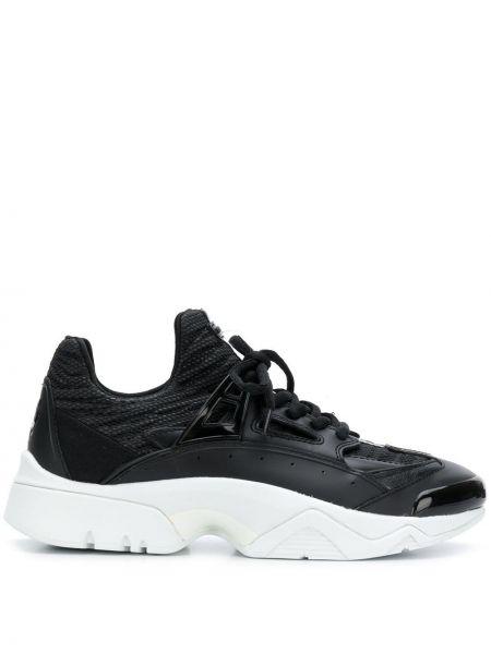 Кроссовки на платформе черные белый Kenzo
