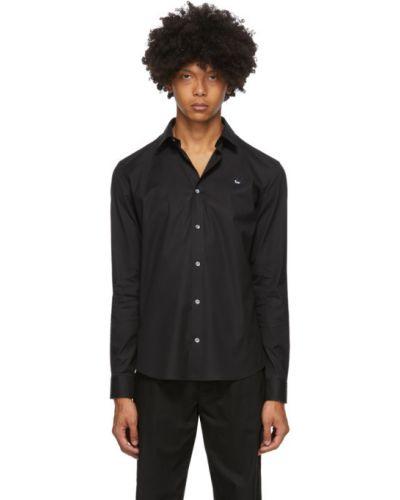 Czarna koszula bawełniana z haftem Mcq Alexander Mcqueen