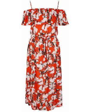Платье с цветочным принтом из вискозы Ichi
