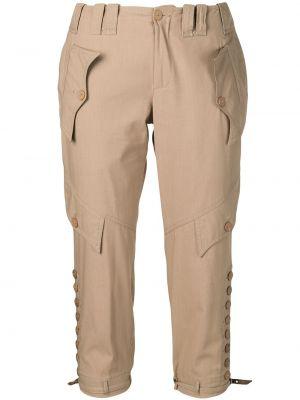 Укороченные брюки винтажные с поясом Jean Paul Gaultier Pre-owned