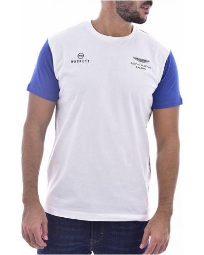 Biała t-shirt Hackett