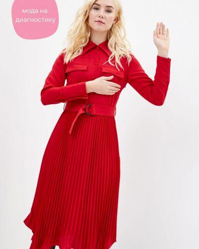 Красное прямое платье Cavo