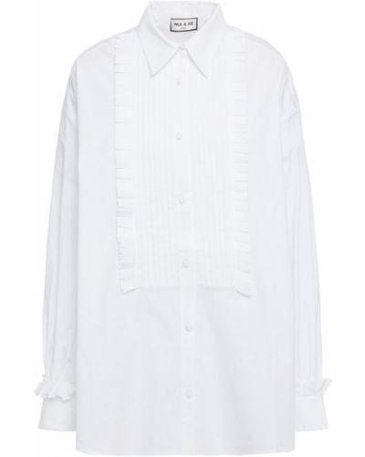 Хлопковая белая рубашка с манжетами Paul & Joe
