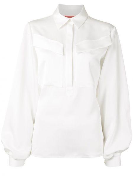 С рукавами белая рубашка на пуговицах Manning Cartell