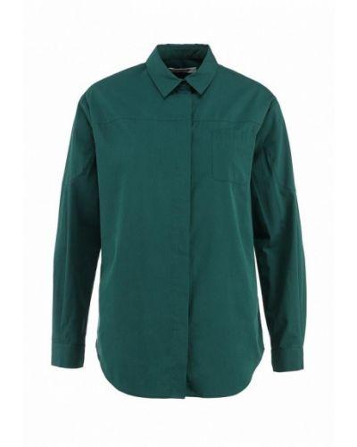 Зеленая рубашка с длинным рукавом Lacoste