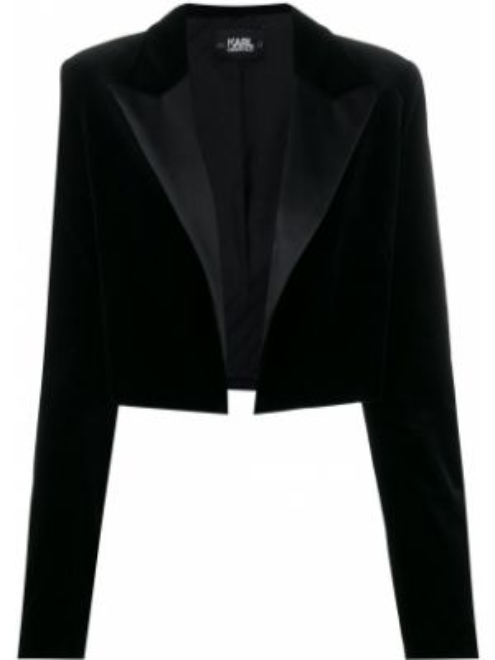 Куртка черная бархатная Karl Lagerfeld