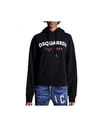Хлопковый спортивный костюм - черный Dsquared2