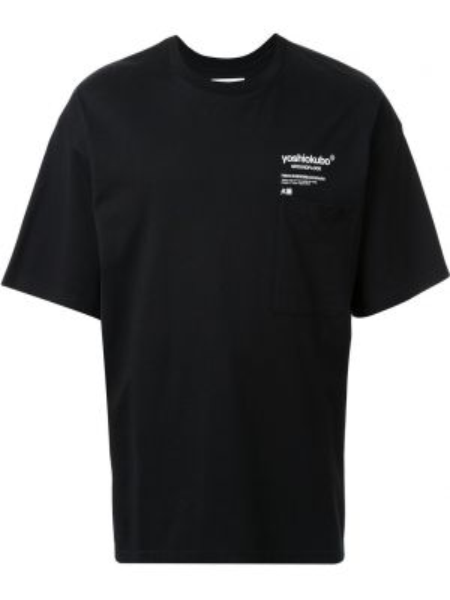 Черная футболка оверсайз Yoshiokubo