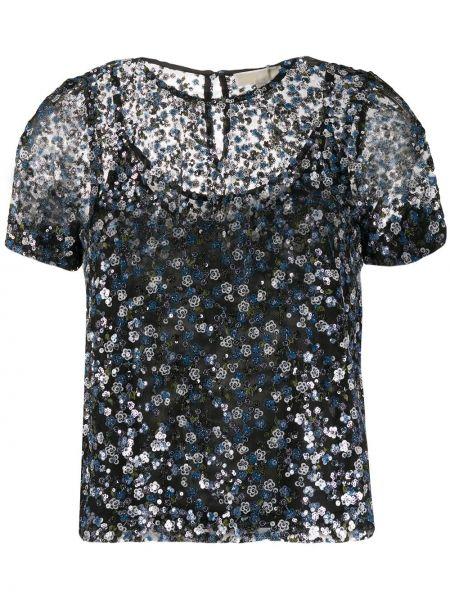 Черная блузка с пайетками Michael Michael Kors