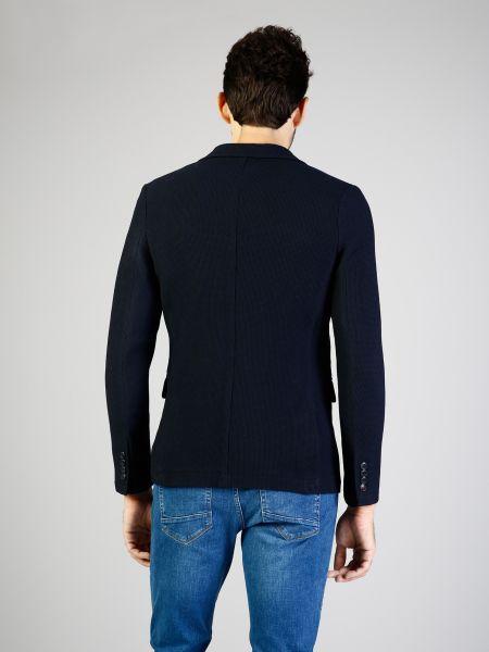 Синий пиджак с карманами на пуговицах Colin's