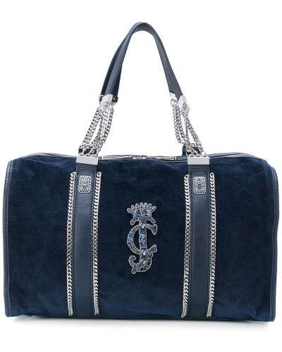 Кожаная сумка бархатная сумка-тоут Juicy Couture