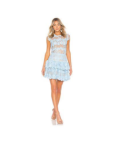 Платье с поясом с бисером с кружевными рукавами Bronx And Banco