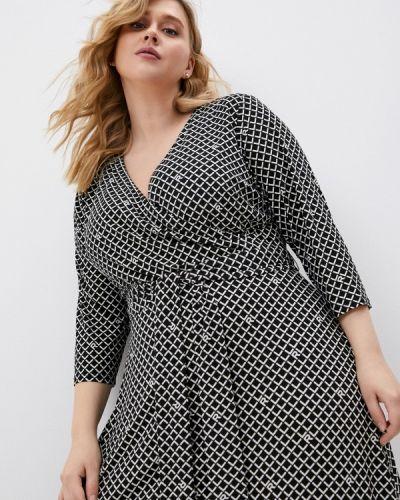 Черное повседневное платье Lauren Ralph Lauren Woman