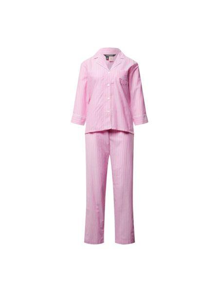 Różowa spodni piżama bawełniana Lauren Ralph Lauren