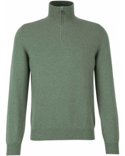 Zielony z kaszmiru sweter Fedeli
